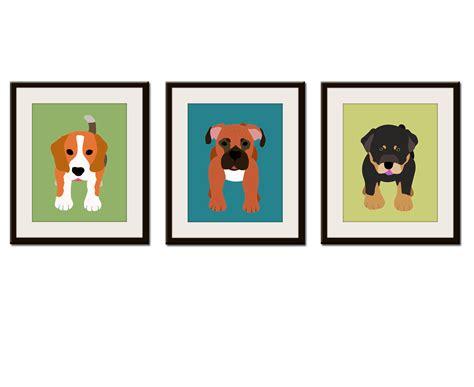 dog wall art dog wall prints kids art childrens art puppy dog nursery