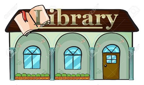 library clipart free library building clipart