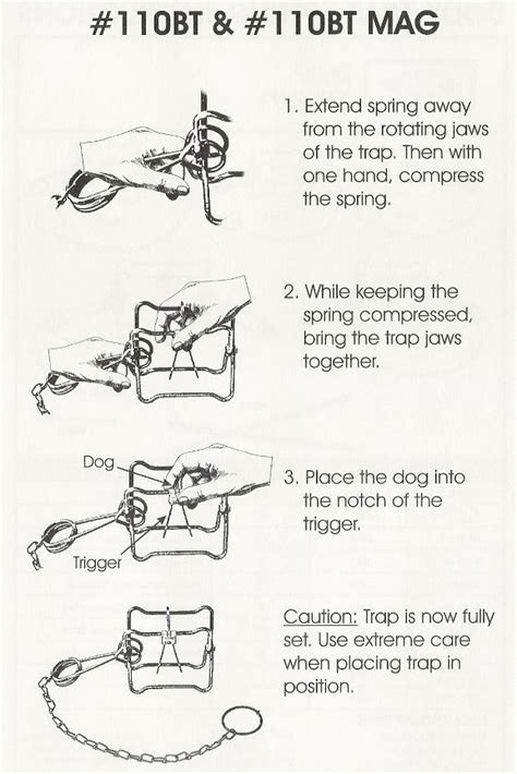 open conibear trap conibear trap 110 instructions gear list pinterest