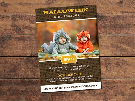 Marketing Materials Mini Session Cards Halloween Mini Session Card Photographypla Net Mini Session Templates For Lightroom