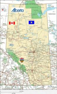 alberta canada map with cities map of alberta mapofmap1