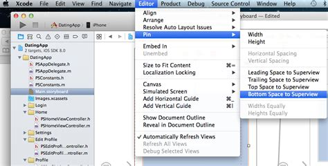 auto layout tutorial xcode 6 objective c ios adjust center of measure in xcode 6 stack overflow