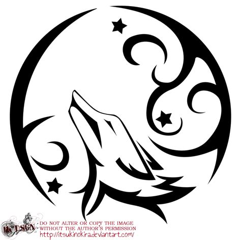 moon tattoo png tribal wolf drawing howling www imgkid com the image