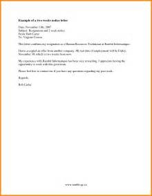 2 weeks notice template 2 week notice letter template best business template