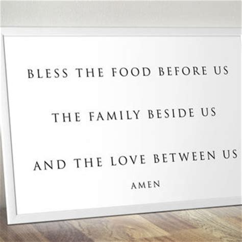 Poster Bless The Food Before Us The Family Beside Us The shop bless the food before us on wanelo