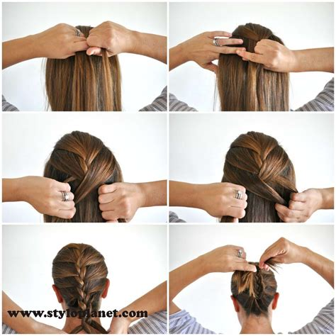 howtodo a twist in thefringe step by step french braid step by step tutorial for girls stylo planet