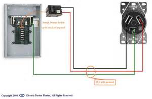 is there an schematic for dryer hook up to fuse panel