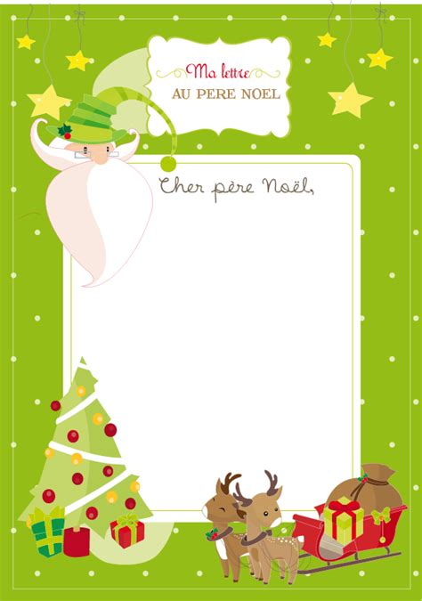 Exemple Lettre Reponse Du Pere Noel A Imprimer La Lettre Au P 232 Re No 235 L Goodie One Pretty