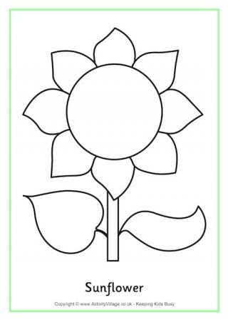 sunflower coloring pages preschool summer colouring pages
