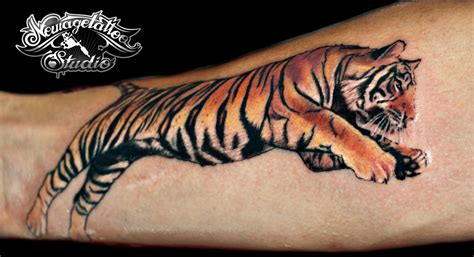 photorealistic tiger tattoo by newagetattoo on deviantart