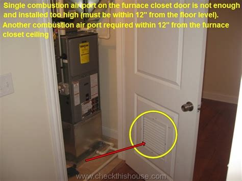 Distance The Floor Should Return Wall Grille Be Located - chicago condo inspection combustion air requirements
