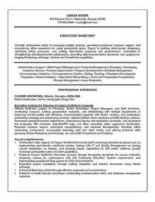 executive assistant resume sles executive assistant resume exle sle