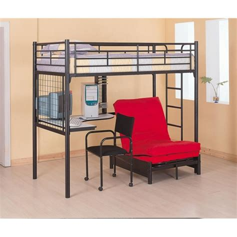 bunk bed with only top bunk sleep concepts mattress futon factory amish rustics