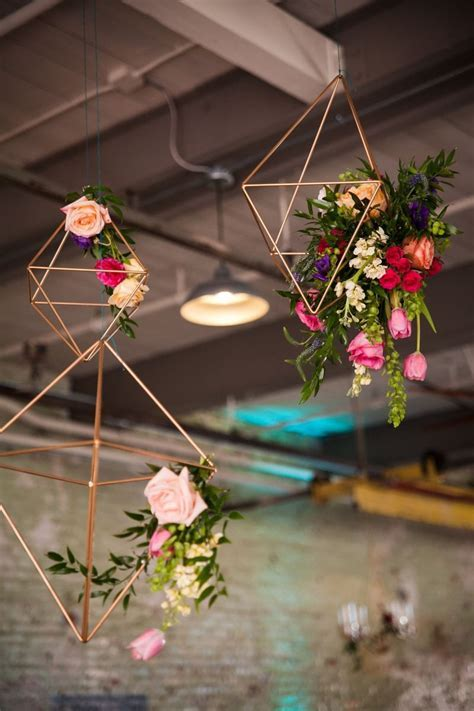 Geometric Wedding Decor   The Yes Girls