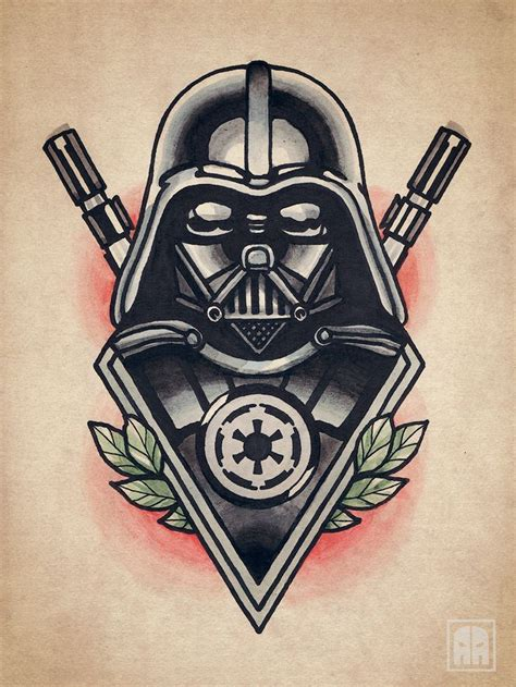 vader tattoo darth vader vader flash traditional wars