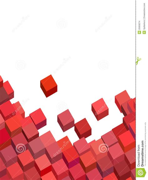 pink red pattern pink red abstract cube pattern on white stock images