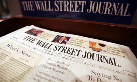 wall street journal business section wall street journal rapped over climate change stance
