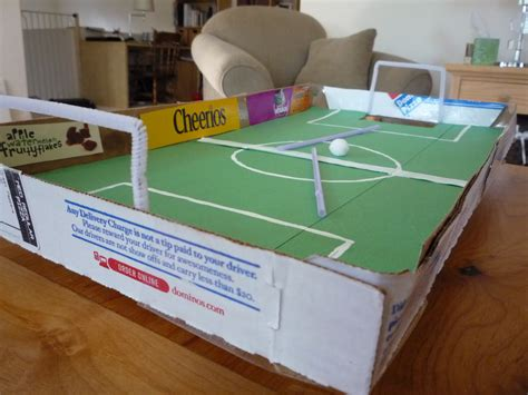 How To Make A Stadium Out Of Paper - crafty pizza box football