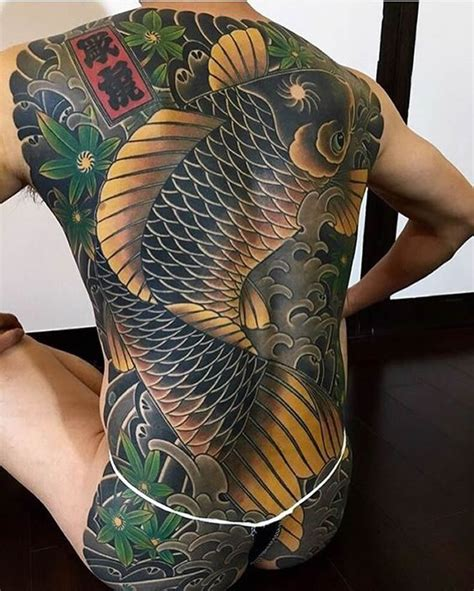 tattoo koi fish yakuza 16 fascinating yakuza tattoos and their hidden symbolic