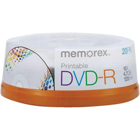 Memorex 4 7gb 16x Dvd R memorex 4 7gb dvd r 16x inkjet printable discs 04738 b h photo