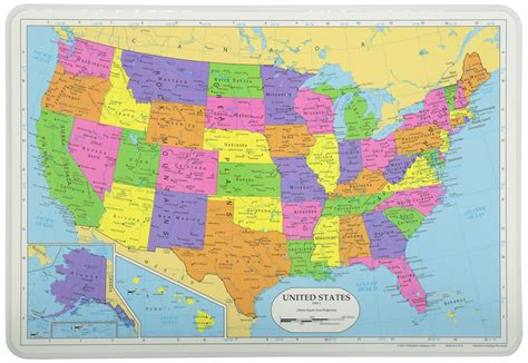map of usa learning painless learning map of usa placemat ebay