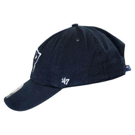 baseball cap logos of brands 47 brand new england patriots nfl clean up strapback
