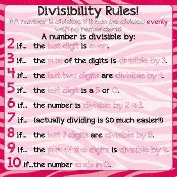 printable division poster maths for kids divisibility rules poster being