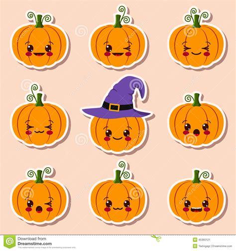 imagenes halloween kawaii calabazas de kawaii halloween ilustraci 243 n del vector