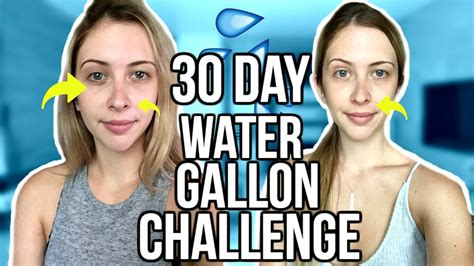 30 day water challenge before and after 30 day gallon water challenge before after