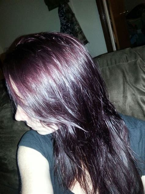 dark brown plum hair color age beautiful 4v dark plum brown love this color so much