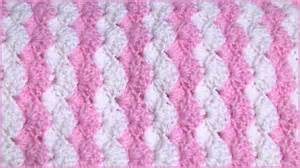 How to crochet a baby blanket using a shell stitch youtube
