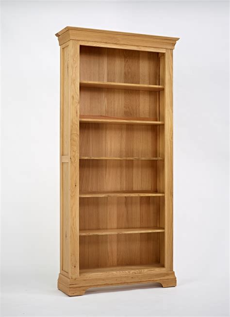 Oak Book Shelf by Bordeaux Oak Large Bookcase Oak Furniture Solutions