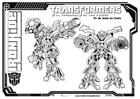 ironhide colouring pages page 2