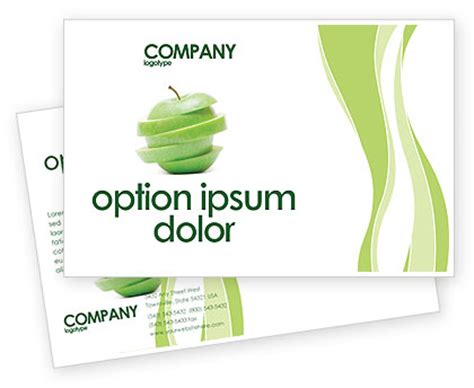 postcard templates for mac sliced green apple postcard template in microsoft word