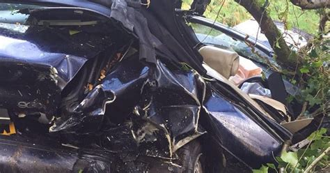 car seat cocooning in crash shocking car crash pictures from somerset used to remind