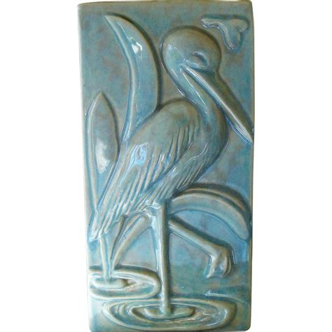 Gonder Pottery Vase by Gonder Pottery Crane Pillow Vase From Collectors Pride On