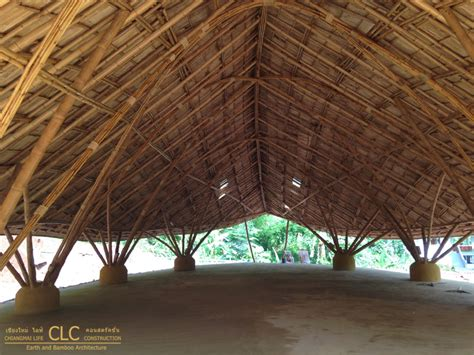 dhammagiri meditation hall bamboo earth architecture