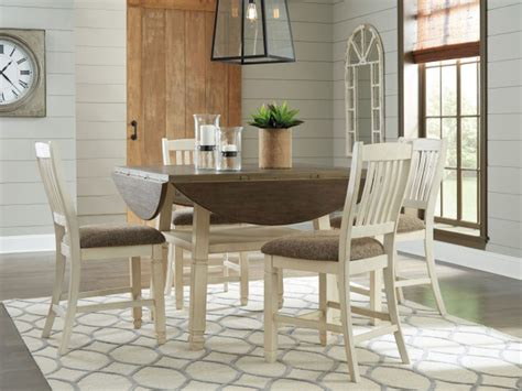 two tone dining table set bolanburg two tone counter height dining set shop