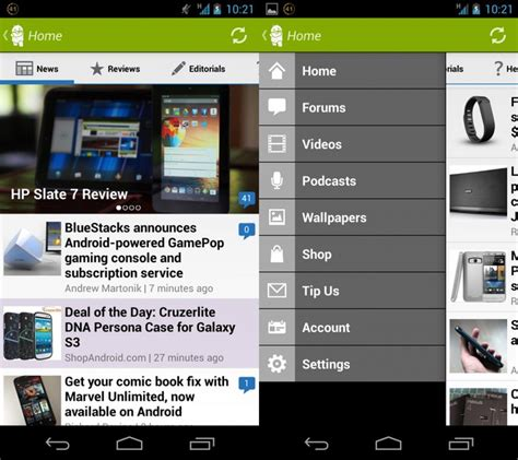 walking app for android walking through the new and improved android central app android central