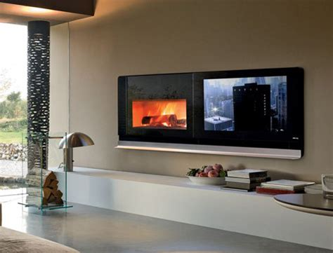 fireplace tv combo rotating tv and fireplace combo unit craziest gadgets