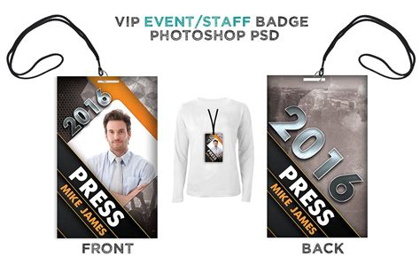 press id card template psd modern press pass digital316 net