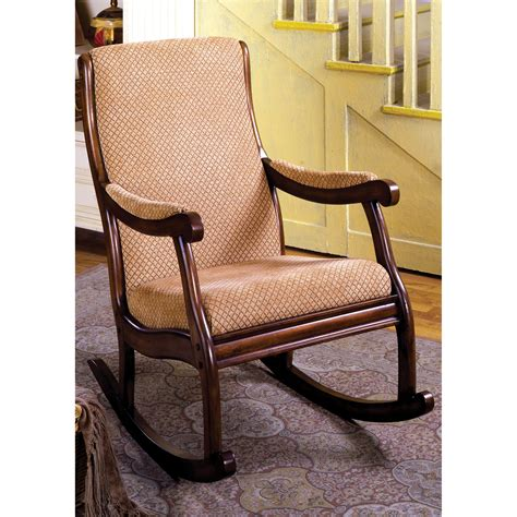 Indoor Rocking Chairs by Furniture Of America Bernardette Upholstered Rocking Chair