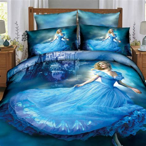 cinderella beds 2015 hot sale 3d princess bedcover cinderella bedding sets