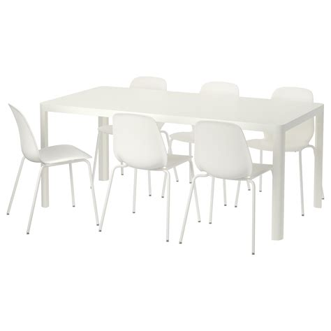 Ikea White Dining Table And Chairs Leifarne Tingby Table And 6 Chairs White White 180 Cm Ikea