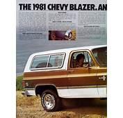 Car Brochures  1981 Chevrolet And GMC Truck