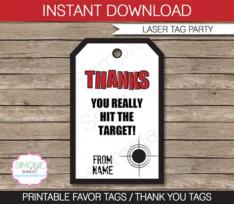 laser printable gift tags laser tag party favor tag templates thank you tags