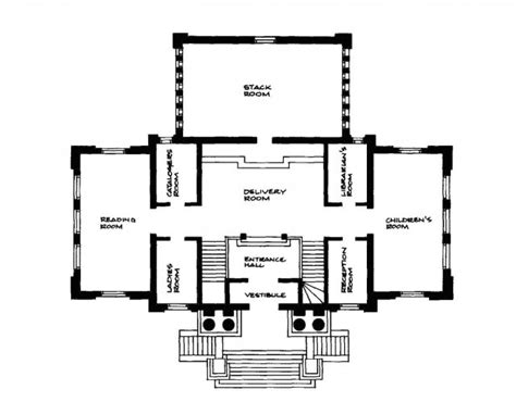 carnegie floor plan carnegie libraries ontario association of architects