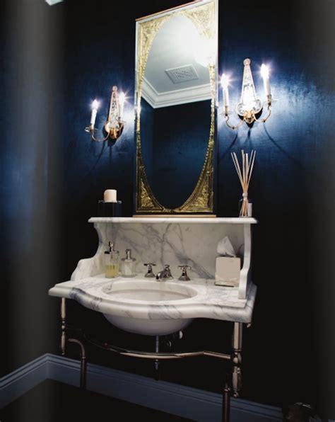 blue and black bathroom decor calcutta marble washstand transitional bathroom