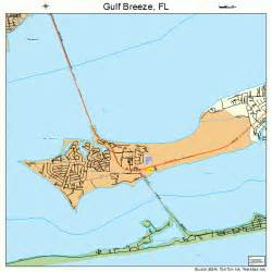 Florida Gulf Map by Gulf Breeze Florida Street Map 1228000