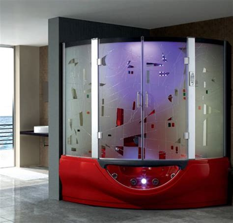 two person bathtub shower combo luxury acrylic steam shower cabin with sexy massage